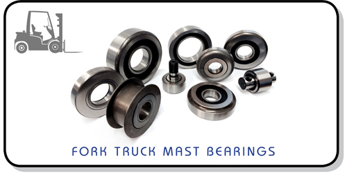 fork truck mast bearings
